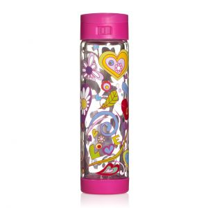 Glasstic 16oz - Love Design Pink Flip Cap