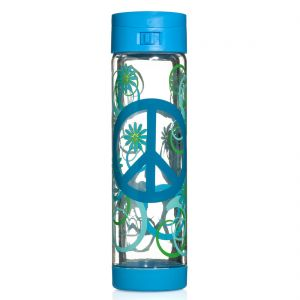 Glasstic 16oz - Peace Design Blue Flip Cap