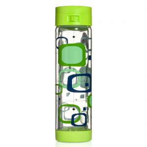 Glasstic 16oz - Retro Design Green Flip Cap