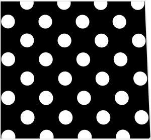 Polkadot White on Black Style