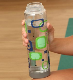 Glasstic Worry Free Glass Water Bottle - Retro Design 16oz