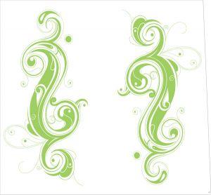 Tribal Yin Yang Green Style
