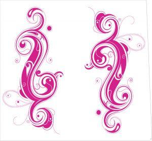 Tribal Yin Yang Pink Style
