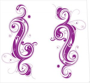 Tribal Yin Yang Purple Style