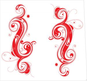 Tribal Yin Yang Red Style