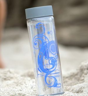 Glasstic Worry Free Glass Water Bottle - Tribal Yin Yang Design 16oz