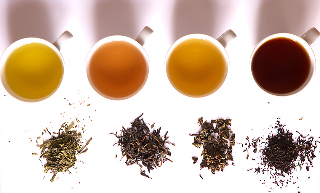 Teas of different levels of oxidation