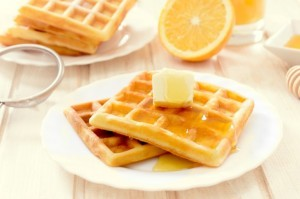 Waffles with Orange Essential Oil