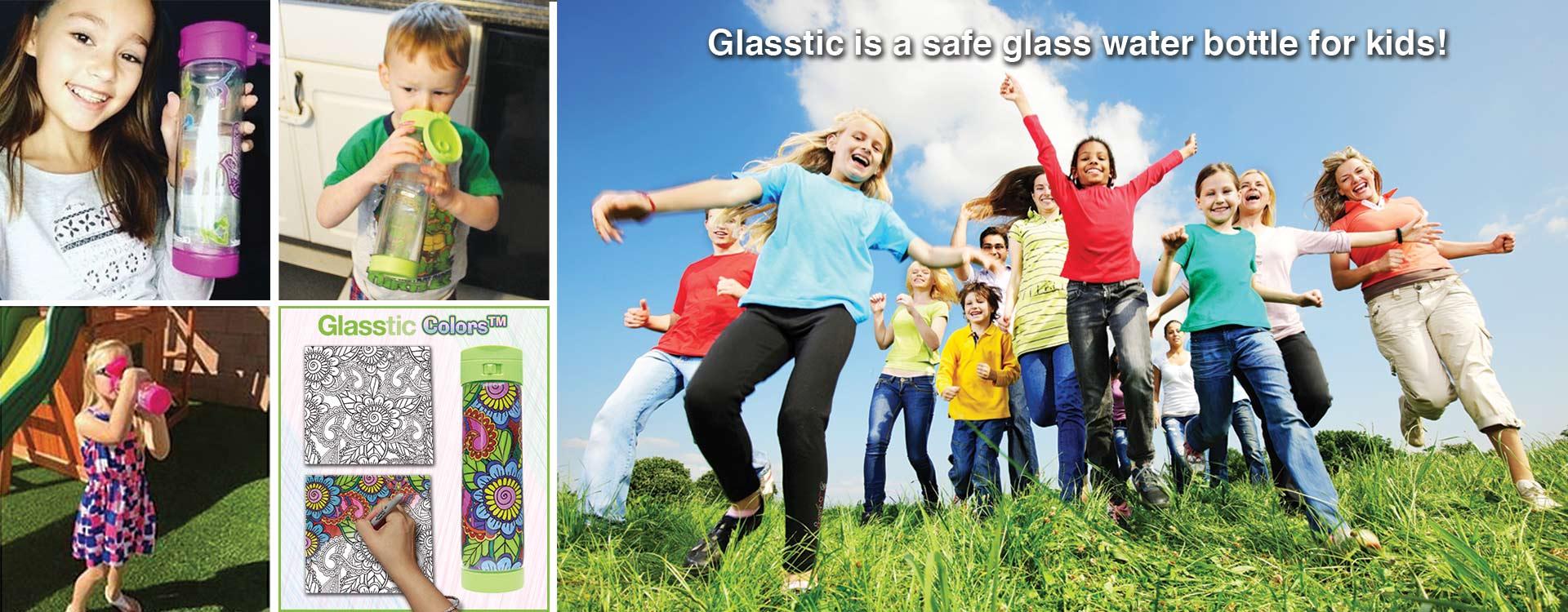 Glasstic Shatterproof Glass Water Bottle